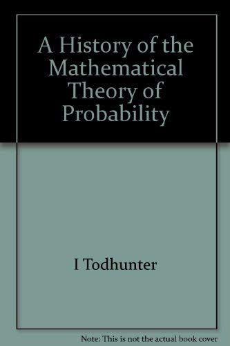 9780828400572: History of the Mathematical Theory of Probability