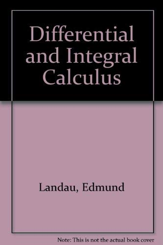 9780828400787: Differential and Integral Calculus
