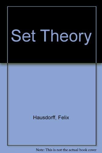 Set Theory, Third Edition: Hausdorff, Felix; Aumann,