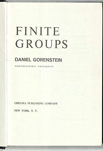 9780828403016: Finite Groups (AMS Chelsea Publishing)