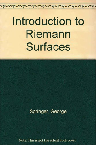9780828403139: Introduction to Riemann Surfaces