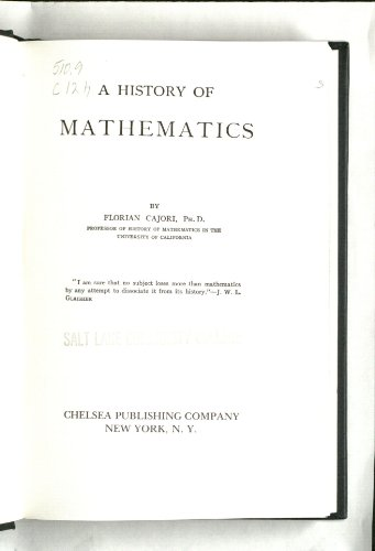 9780828413039: A History of Mathematics
