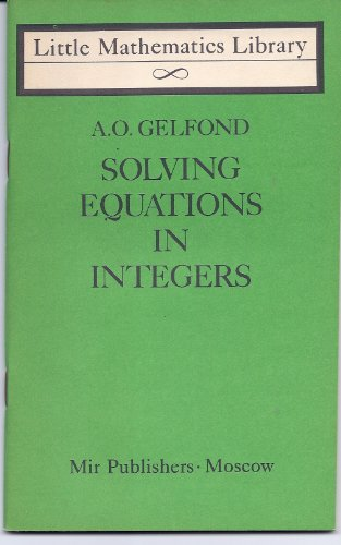 9780828520539: Solving Equations in Integers