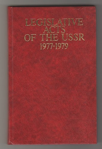 9780828522359: Legislative Acts of the Ussr, 1977-1979