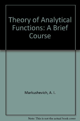 9780828523899: The Theory of Analytical Functions: A Brief Course