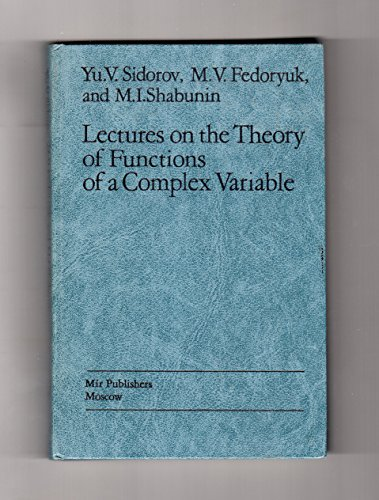 9780828533751: Lectures on the Theory of Functions of a Complex Variable