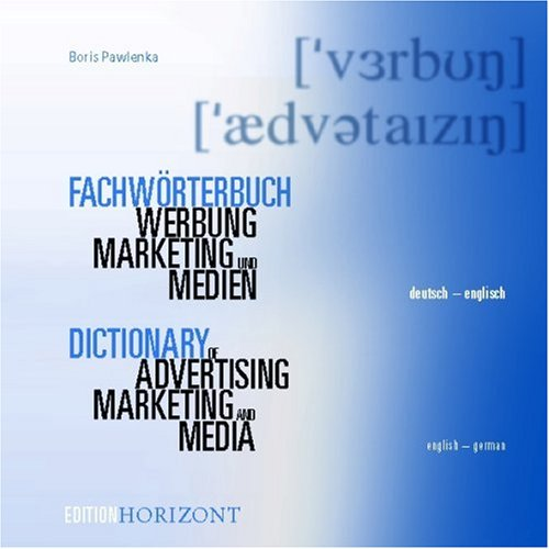 9780828800969: Standard Dictionary of Advertising, Mass Media and Marketing