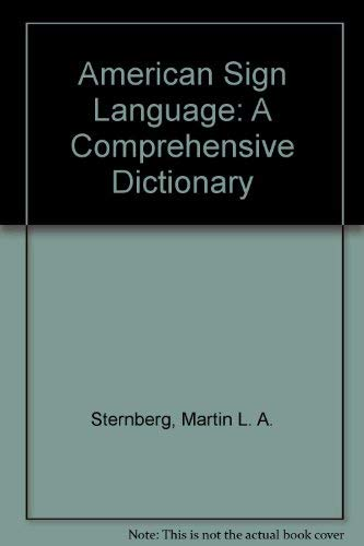 9780828801928: American Sign Language: A Comprehensive Dictionary