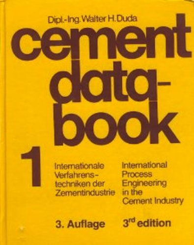 9780828802048: Cement Data Book, Volume One: International Process Engineering in the Cement Industry