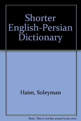 9780828805445: Shorter English - Persian Dictionary