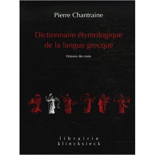 9780828810586: Dictionnaire Etymologique de la Langue Grecque