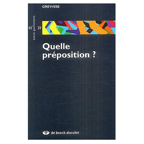 9780828833523: Quelle Preposition? (French Edition)