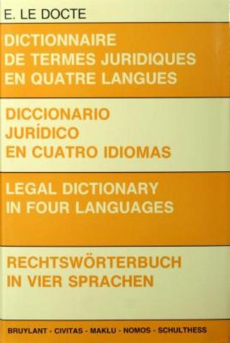 9780828859301: Legal Dictionary in Four Languages