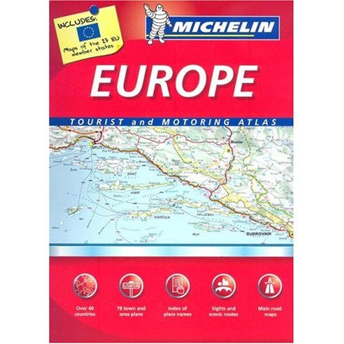 9780828862004: Michelin Road Atlas to Europe, Scale 1:1,000,000