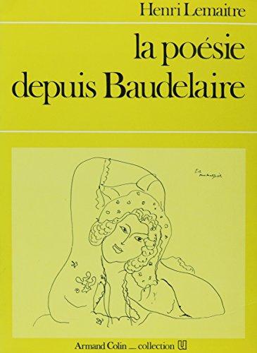 9780828874229: Poesie Depuis Baudelaire