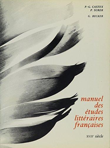 9780828874410: Manuel des Etudes de la Litterature Francaise 17th