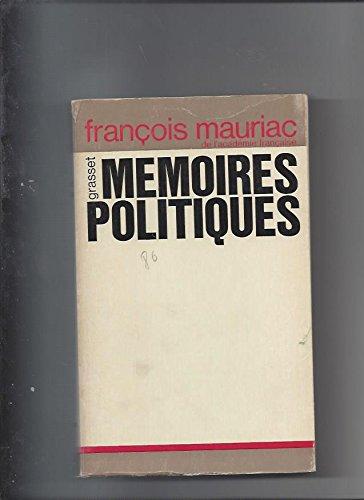 Memoires Politiques (0828874425) by Francois Mauriac