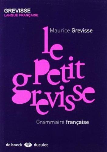 9780828874748: Le Petit Grevisse - Grammaire Francaise (French Edition)