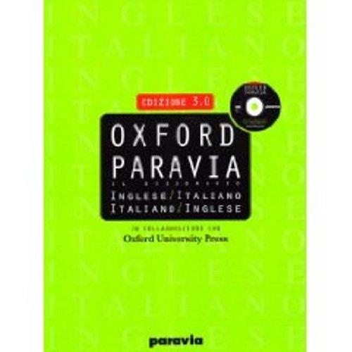 9780828891226: Oxford Paravia Dizionario Inglese Italiano e Italiano Inglese con CD ROM - Oxfordrd Paravia Dictionary Italian English and English Italian with CD ROM (Italian Edition)