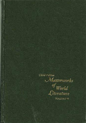 002: Masterworks of World Literature: Shakespeare to: Brown, Calvin