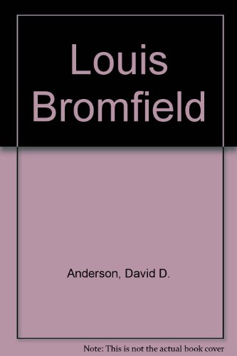 Louis Bromfield 9780829017175 Book by Anderson, David D.