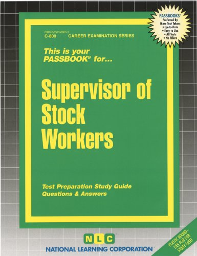 9780829308006: Supervisor of Stock Workers (Passbooks)