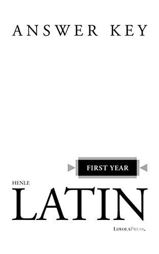 9780829412055: Henle First Year Latin - Answer Key