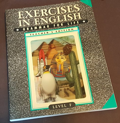 9780829417494: Exercises in English - Teachers Edition (Grammar For Life, Level F)