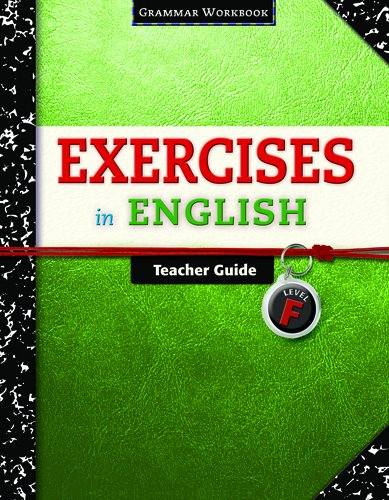 9780829423440: Exercises in English Level F Teacher Guide: Grammar Workbook (Exercises in English 2008)