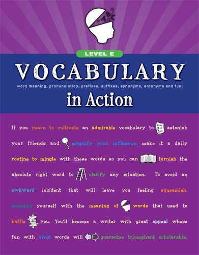 9780829427738: Vocabulary in Action Level E: Word Meaning, Pronunciation, Prefixes, Suffixes, Synonyms, Antonyms, and Fun! (Vocabulary in Action 2010)