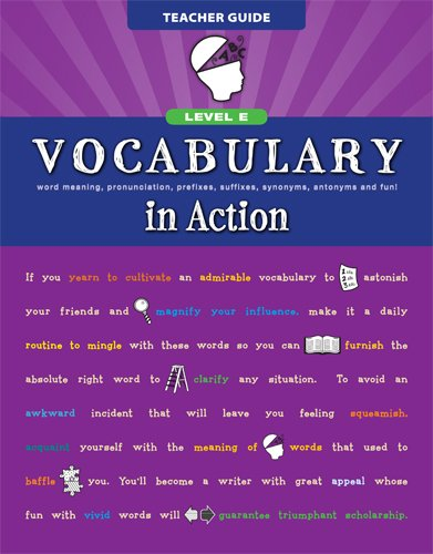9780829427783: Vocabulary in Action Level E Teacher Guide: Word Meaning, Pronunciation, Prefixes, Suffixes, Synonyms, Antonyms, and Fun! (Vocabulary in Action 2010)