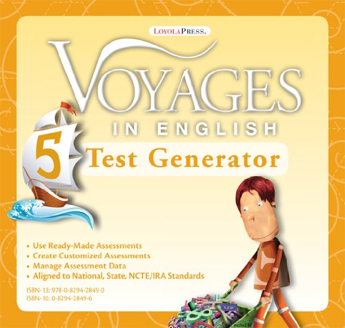 9780829428490: Grade Level 5 Test Generator: Assessment Suite (Voyages in English 2011)