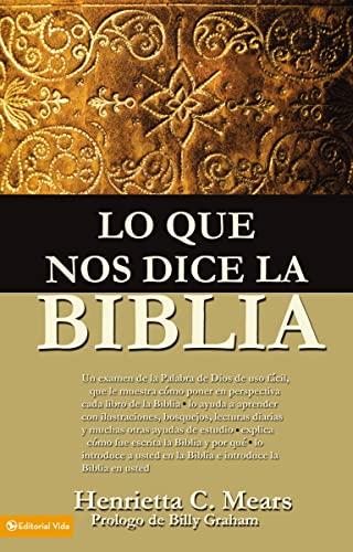 9780829704853: Lo Que Nos Dice La Biblia