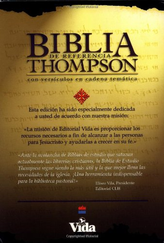 9780829714432: Biblia De Cadena Del Estudio De LA Referencia De Thompson/Thompson Chain Reference Study Bible: Burgundy