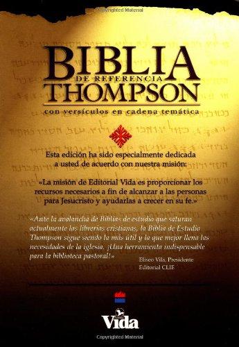 9780829714449: Bíblia de Referencia Thompson Piel Especial Negro