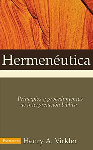 9780829718485: Hermen Utica: Principios y Procedimientos de Interpretaci N B Blica