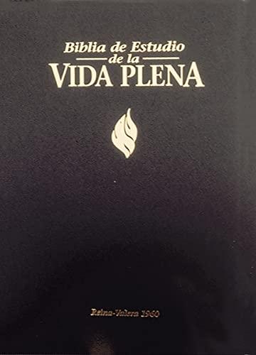 9780829719802: Bíblia de Estudio Vida Plena - Tela Negro