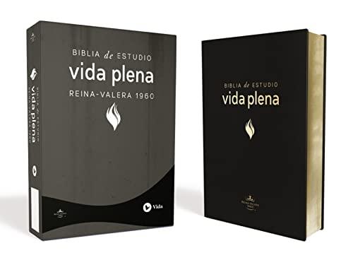 9780829731972: Biblia de Estudio Vida Plena, Español, Piel Negro