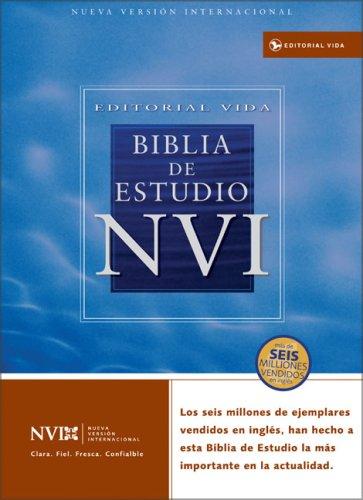 9780829736991: Holy Bible: Nvi Biblia De Estudio Piel Especial Rojo Oscuro / Nueva Version International, Burgundy, Bonded Leather, Study Bible