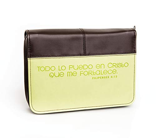 9780829750485: Filipenses 4:13 Large Lime Green/Brown Bible Cover