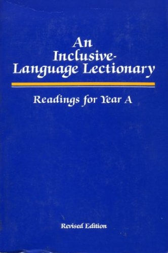 9780829807462: An Inclusive-Language Lectionary - Readings for Year A (Revised Edition)