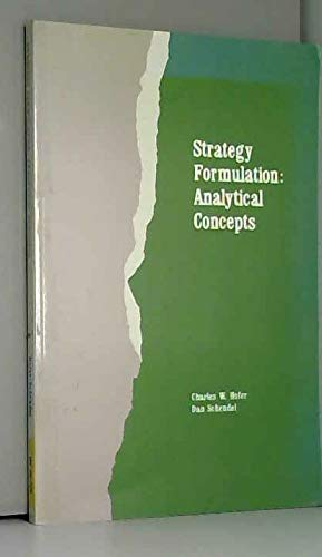 9780829902136: Strategy Formulation: Analytical Concepts (The West Series in Business Policy and Planning)