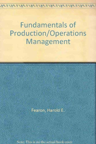 9780829902693: Fundamentals of Production/Operations Management