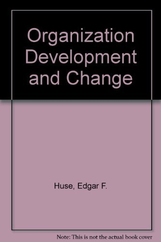 9780829903003: Organization Development and Change (The West series in management)