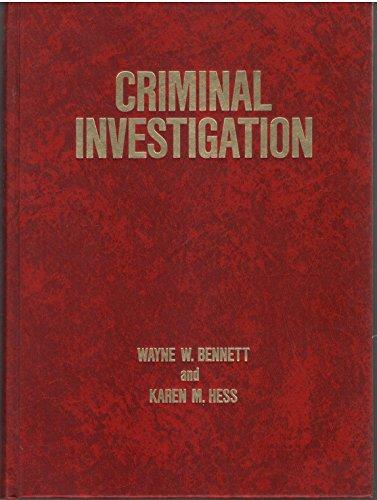 Criminal Investigation: Karen M. Hess; Wayne W. Bennett