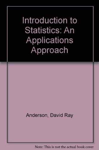 9780829903614: Introduction to Statistics: An Applications Approach