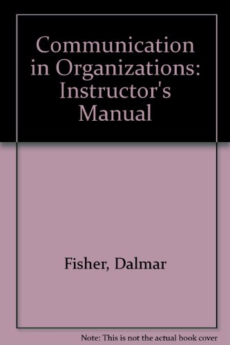9780829903805: Communication in Organizations: Instructor's Manual