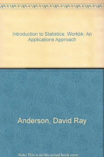 9780829904246: Introduction to Statistics: An Applications Approach: Workbk