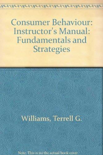 9780829905069: Consumer Behaviour: Fundamentals and Strategies: Instructor's Manual