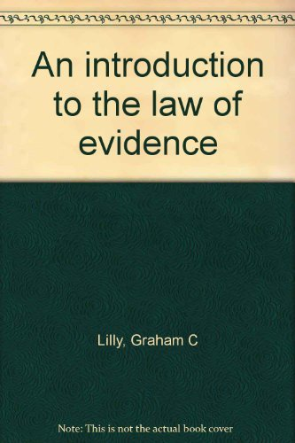9780829920130: An introduction to the law of evidence